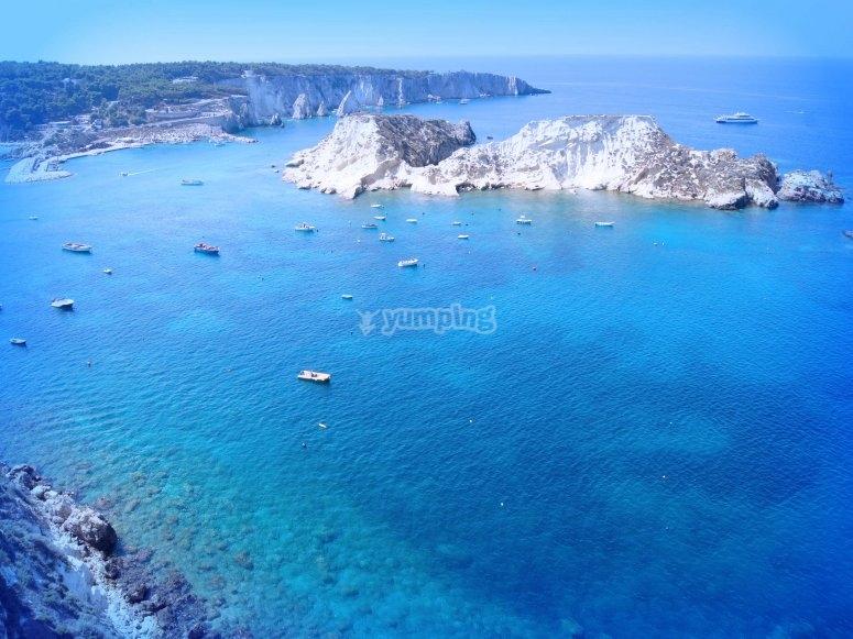 The sea of the Tremiti islands