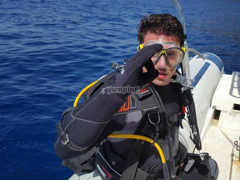 Corso di soccorso subacqueo in mare PADI
