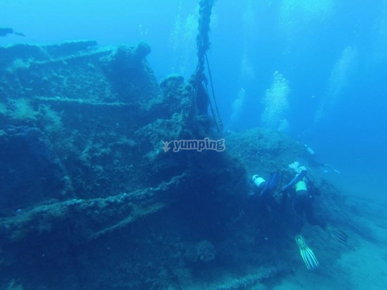Specialita PADI Wreck Diver a Milano