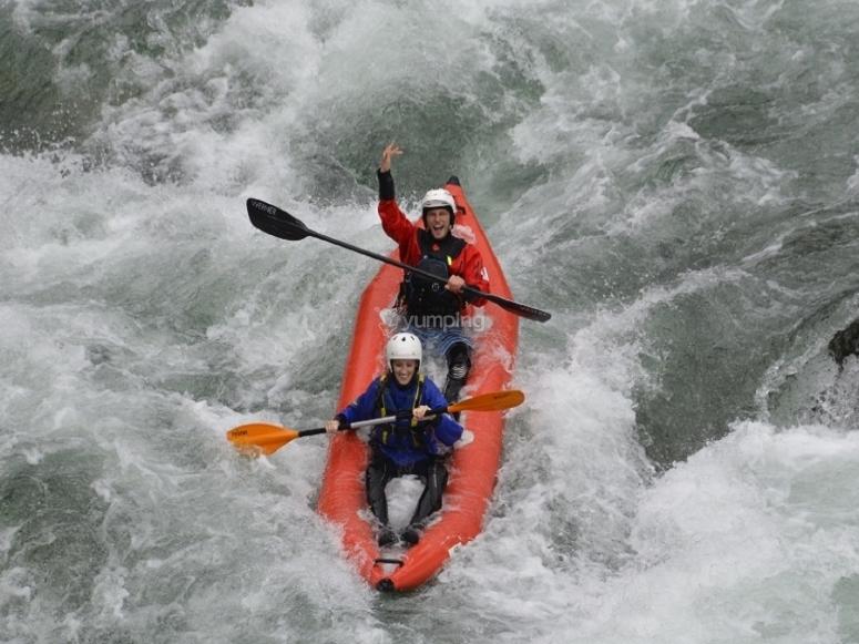 In canoa lungo il fiume Sesia