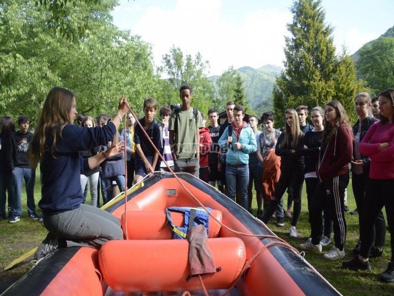 Lezione in gruppo per il fiume Sesia