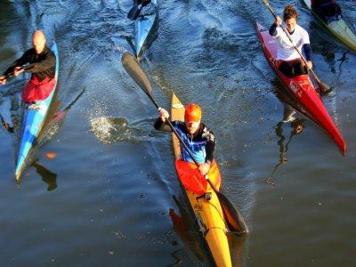 Lezione collettiva di canoa 4h sul fiume Sesia