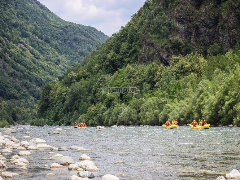 Canoa lungo il fiume Sesia