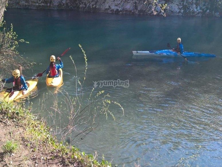 Escursione in canoa lungo il fiume Sele