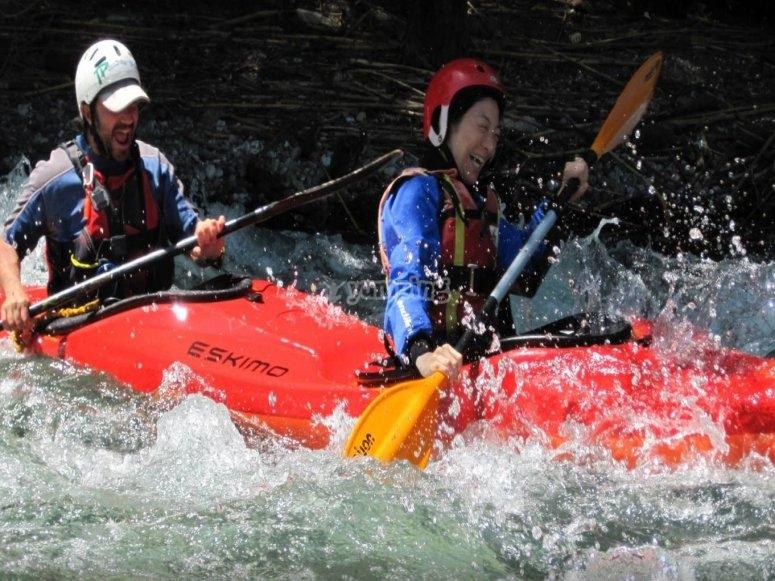 Escursione in canoa per il fiume Calore