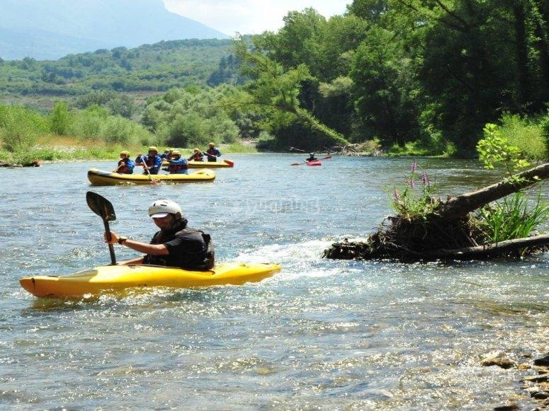 Giornata in canoa in provincia di Salerno