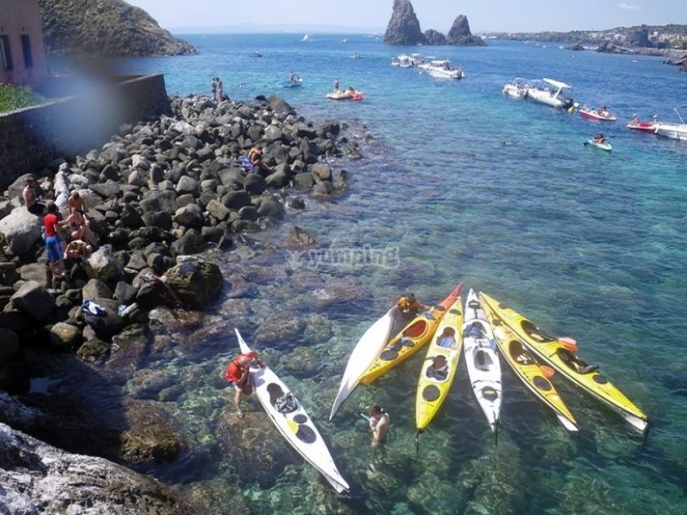 Escursione in canoa vicino Catania