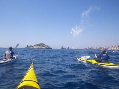 1 giornata in canoa a mare in Sicilia Orientale