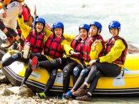 Rafting girls
