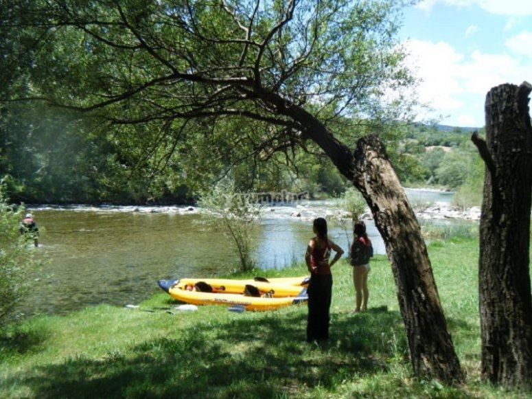 Canoe excursion in the Oasis of Persano