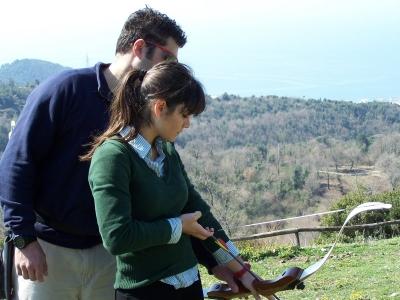 Trekking e tiro con l'arco Montena mezza giornata