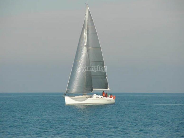 La barca in mare