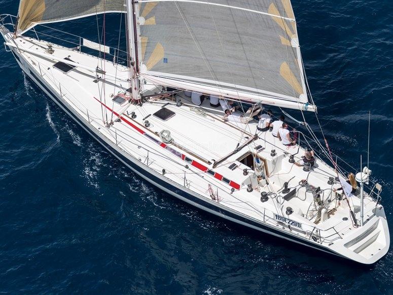 La nostra barca dall'alto
