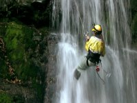 Descending into a crystalline waterfall