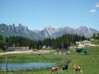 Trekking among green pastures