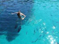 swim stop in the Ligurian sea
