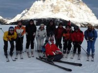 Weekend and week white skis