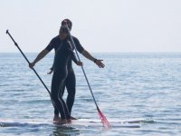 Paddle surfing in Formia