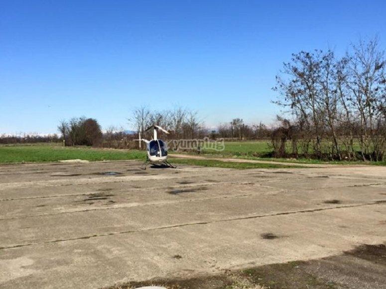 Anche l'elicottero è pronto per il decollo!