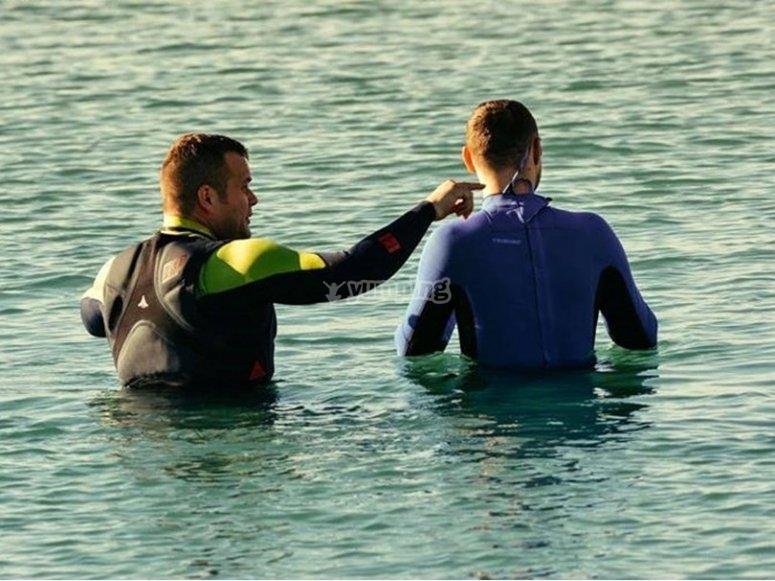 La lezione in acqua