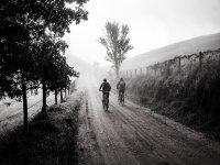 In bici con la neve