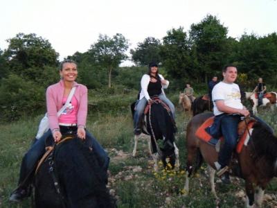 Horseback riding hills of Montena Salerno