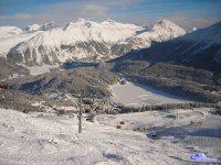 Lago di St. Moritz dalle piste