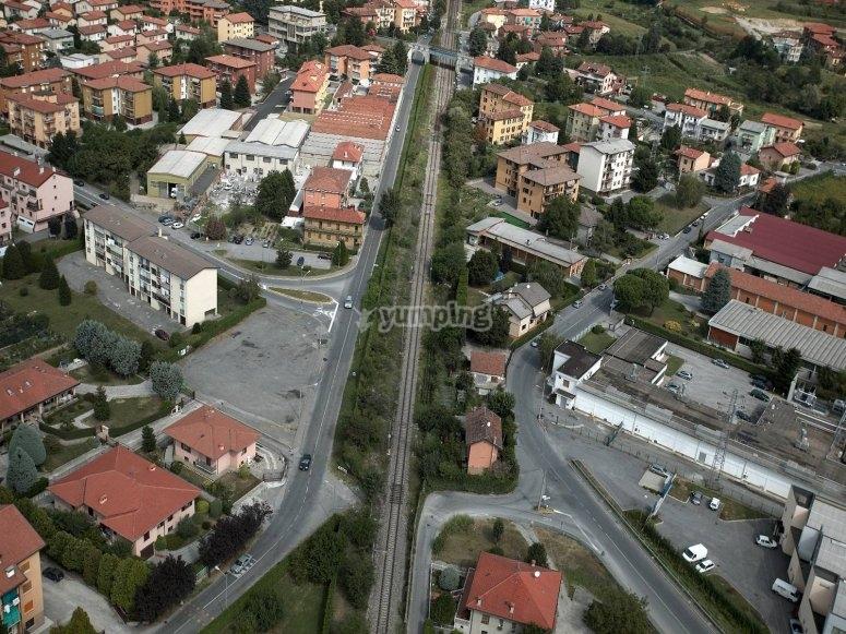Vista aerea di Lecco