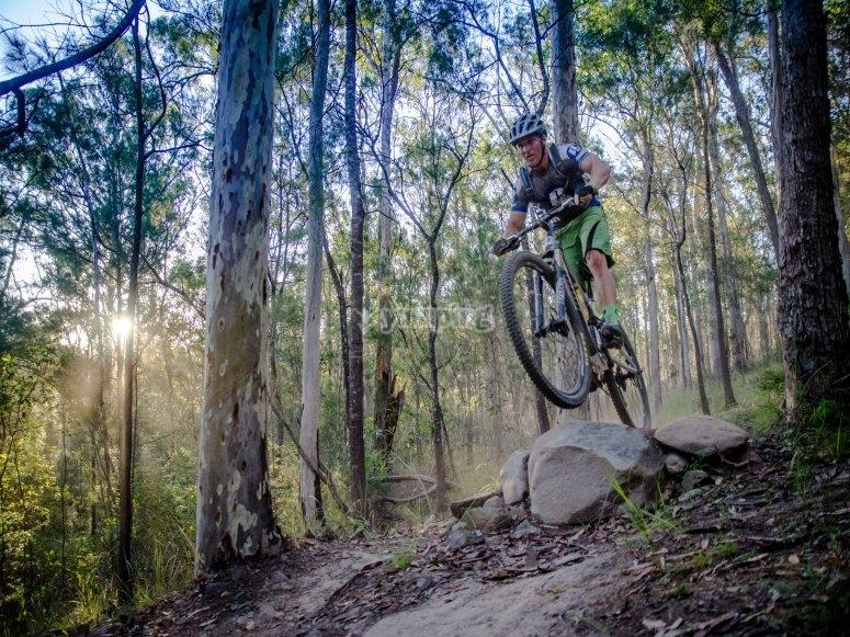 Mountain bike in piena natura