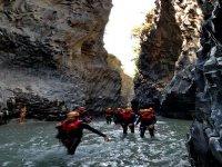 Trekking fluviale lungo le Gole