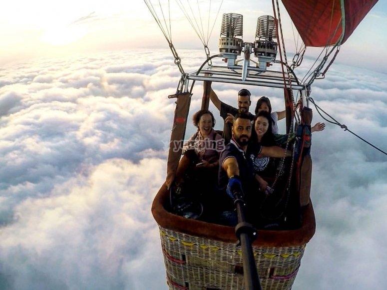 Selfie fra le nuvole