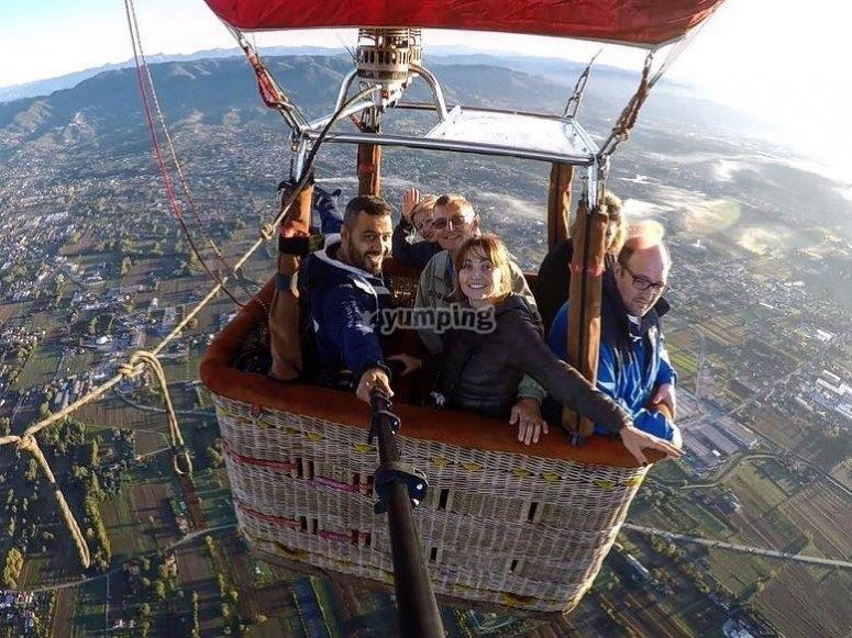 Un selfie in volo