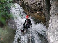 Discesa sulla cascata