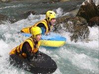 Sulle rapide del fiume