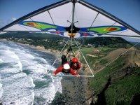 Hang glider sulla costra