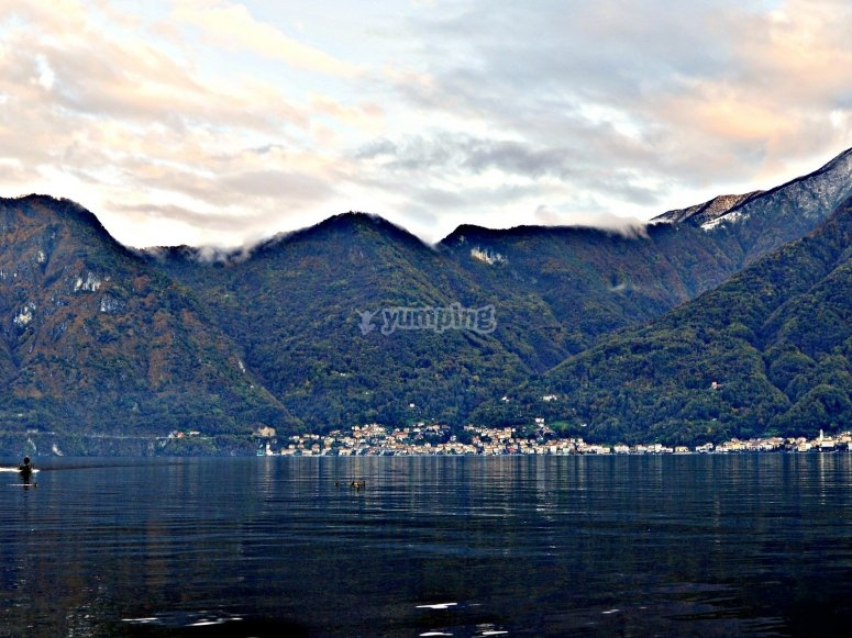 View of the mountains of Como