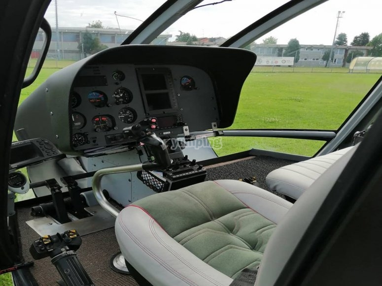 Interior of the gyrocopter