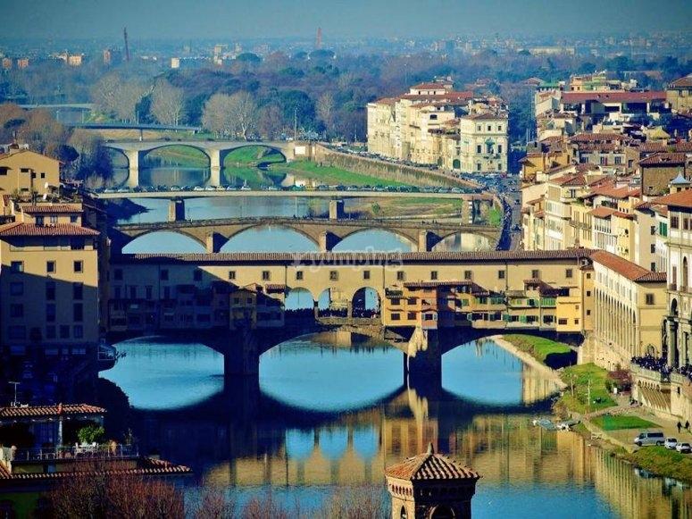 La bellissima Firenze dall'alto del nostro elicottero