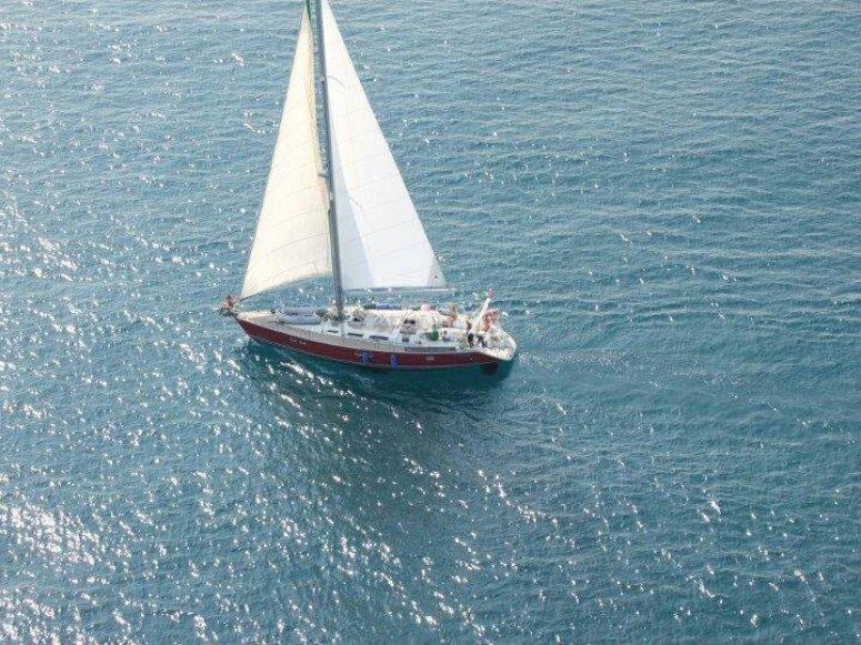 la nostra barca dall'alto!