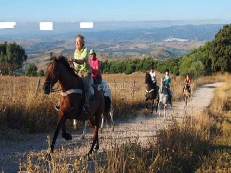all on horseback!