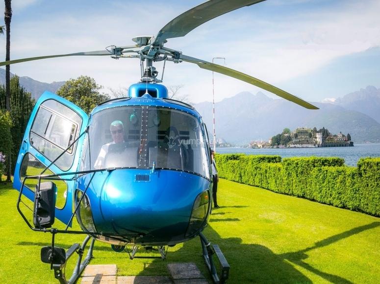Il nostro elicottero pronto al decollo