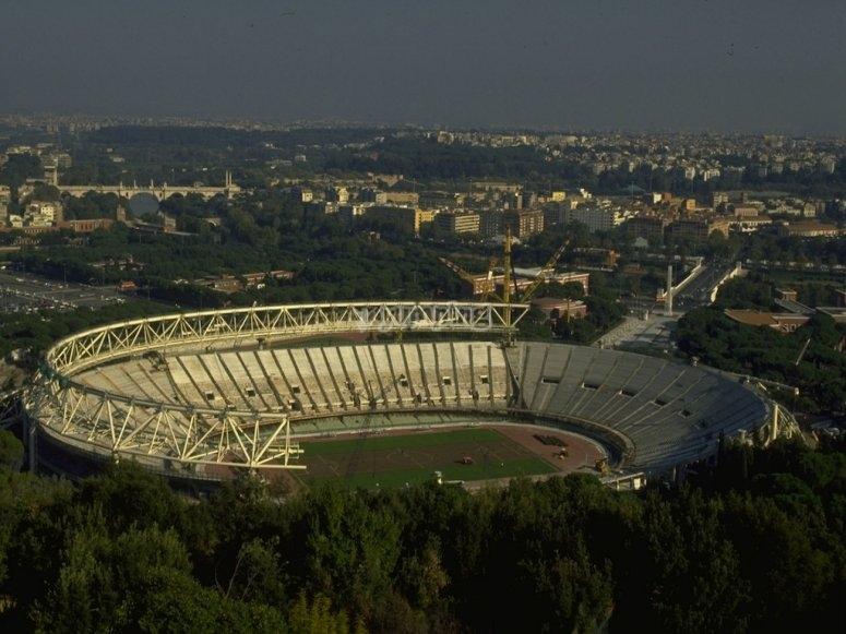 lo stadio olimpico dall'alto
