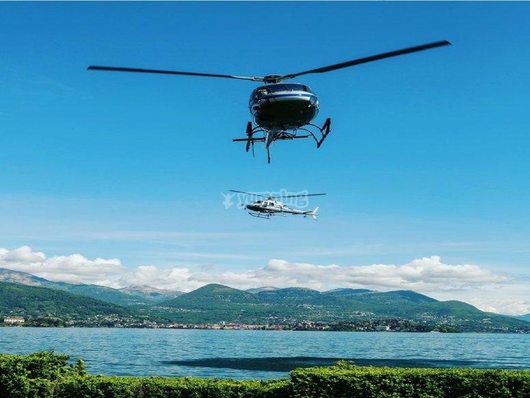 vieni a volare sul bellissimo lago di Bracciano