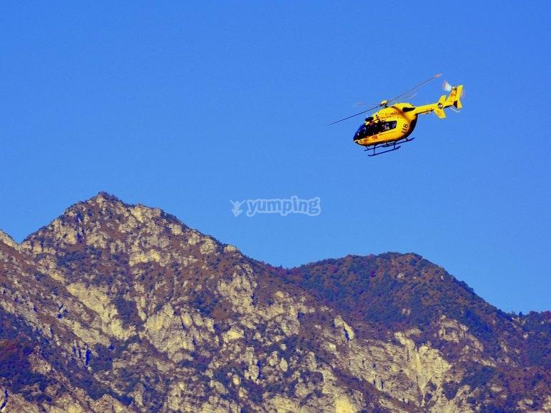 in elicottero sul territorio italiano