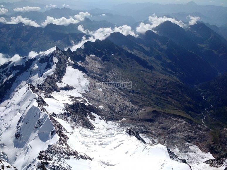 Il monte Rosa dall'alto