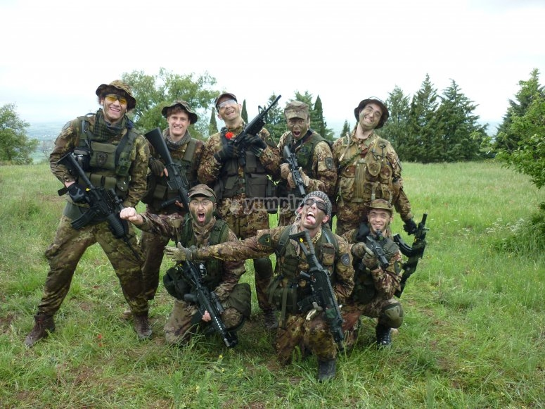Airsoft with friends
