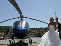 Ecco uno dei nostri elicotteri per un matrimonio