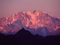 Veduta del Monte Rosa dall'Alpe Sattal