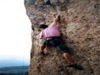 Climbing su roccia