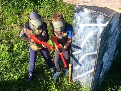 Partita di paintball di un